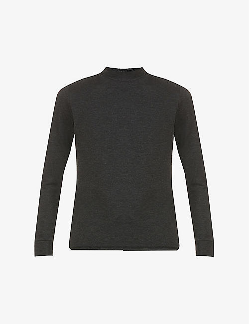 PREVU: Belmont slim-fit turtleneck stretch-woven top