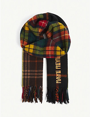 RAVE REVIEW: Upcycled Lulu tartan-print wool scarf