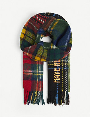 RAVE REVIEW: Upcycled Totto tartan-print wool scarf