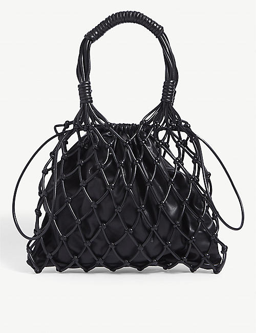 NANUSHKA: Naiya net-detail vegan-leather bag