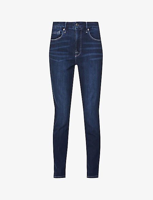 GOOD AMERICAN: Good Legs skinny high-rise stretch-denim jeans
