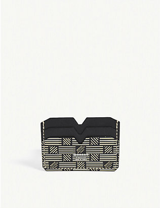 MOREAU PARIS: Etched leather card holder