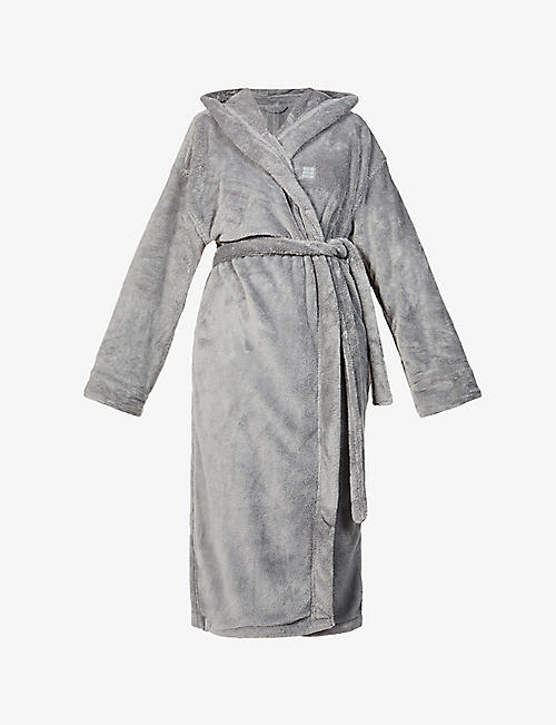 SOHO HOME: Logo-embroidered recycled-polyester house robe