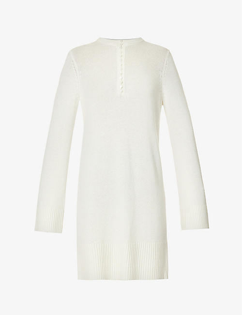 THEORY: Henley cashmere mini dress