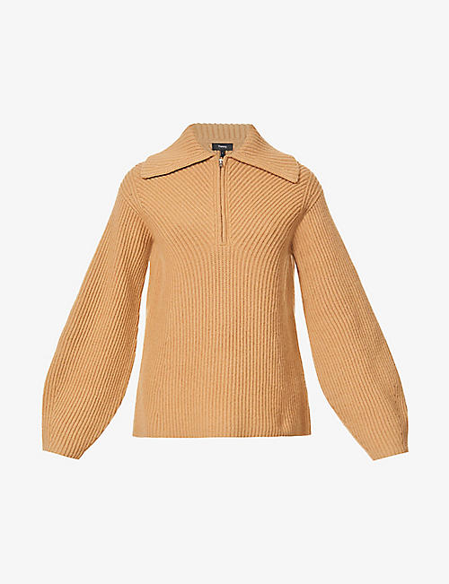 THEORY: V-neck wool-cashmere blend jumper