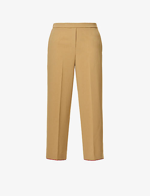 THEORY: Relaxed-fit high-rise woven trousers