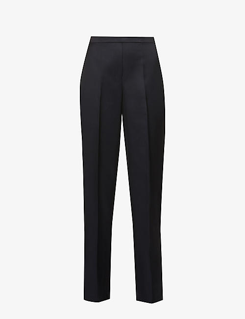 THEORY: Relaxed-fit high-rise twill trousers