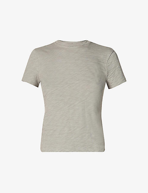 THEORY: Scoop-neck organic-cotton T-shirt
