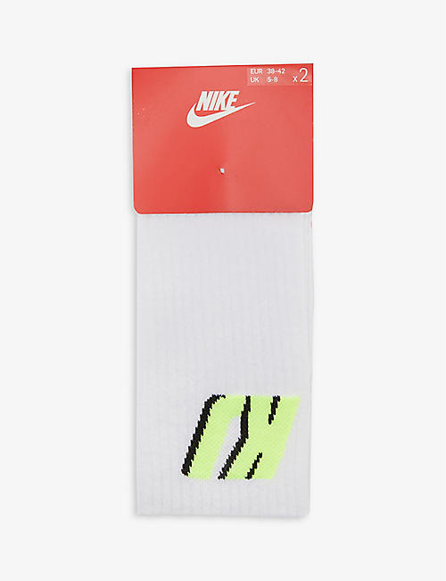 NIKE: Nike NRG x Kim Jones Heritage pack of two stretch-knit socks