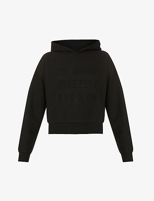 P.E NATION: Power Play organic stretch-cotton hoody