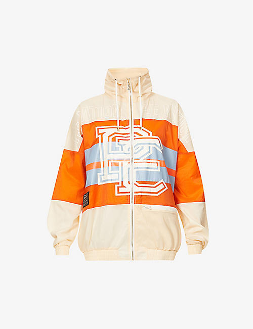 P.E NATION: Score Runner logo-print shell jacket
