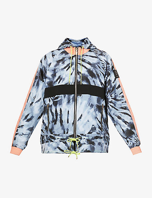 P.E NATION: Man Up printed shell jacket