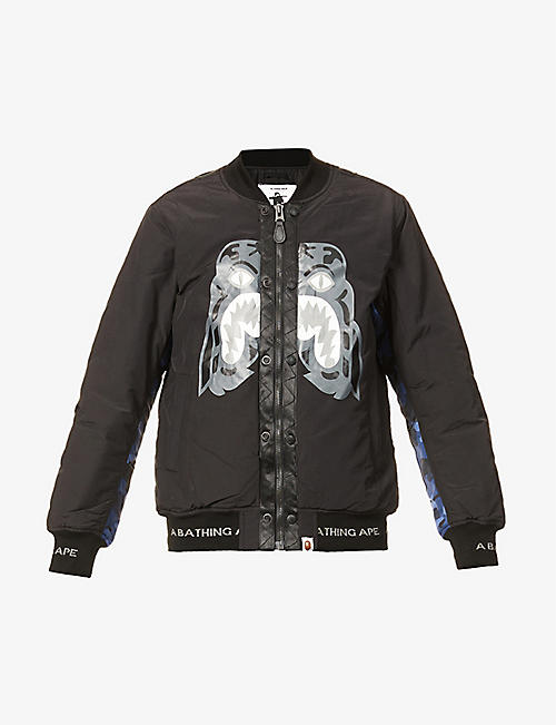 A BATHING APE: Tiger graphic-print cotton-blend bomber jacket