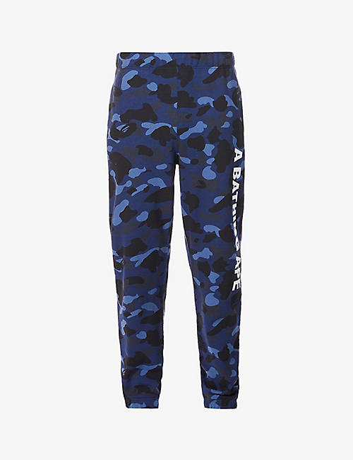 A BATHING APE: 1st Camo tapered cotton-jersey jogging bottoms