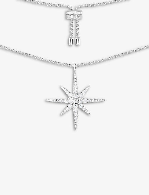 APM MONACO: Météorites sterling silver star necklace