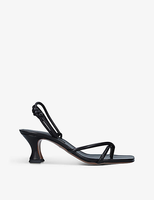 NEOUS: Borealise leather heeled sandals