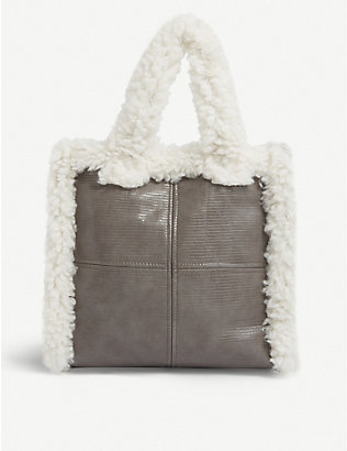 STAND: Lolita faux-shearling tote bag