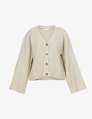 PRETTY LAVISH: Freya V-neck knitted cardigan
