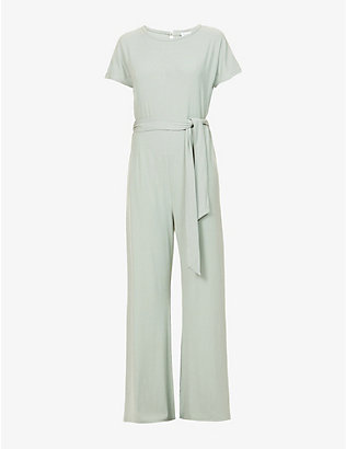 PRETTY LAVISH: Claud belted stretch-jersey jumpsuit