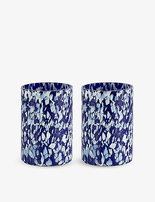STORIES OF ITALY: Macchia mouth-blown glass tumblers set of two