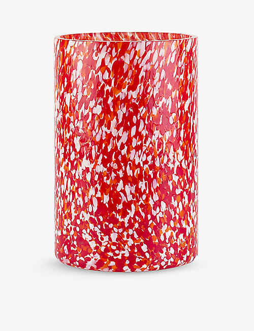 STORIES OF ITALY: Macchia Murano glass vase 20cm