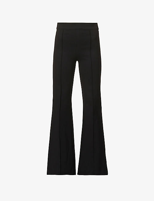 SPANX: Flared high-rise stretch-woven trousers