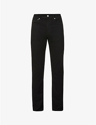 CK JEANS: Slim-fit tapered-leg jeans