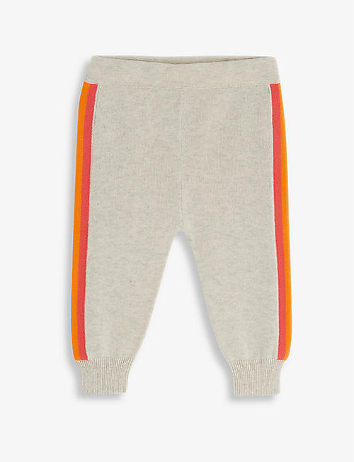 BONNIE MOB: Rainbow-stripe organic-cotton jogging bottoms 3-24 months