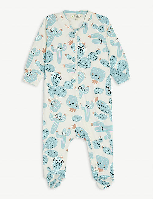 BONNIE MOB: Banana-print cotton-blend all-in-one 0-18 months