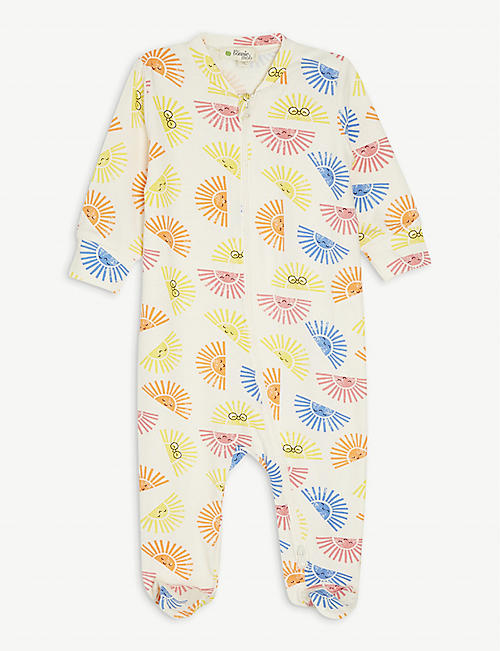 BONNIE MOB: Graphic-print cotton-blend babygrow 0-18 months