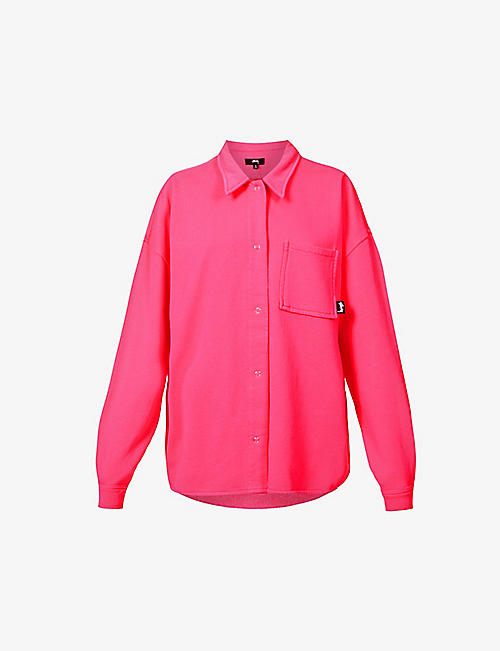 STUSSY: Huron pocket-chest cotton-jersey shirt