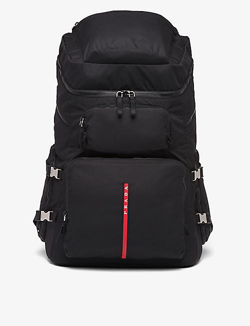 PRADA: Linea Rossa logo-embellished nylon backpack