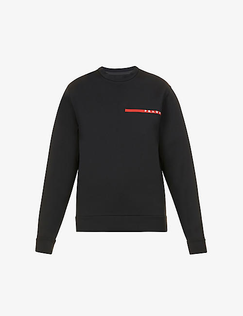 PRADA: Logo-embossed stretch-woven recycled polyester sweatshirt