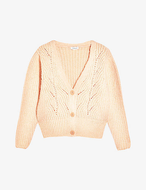 TOPSHOP: V-neck knitted cardigan