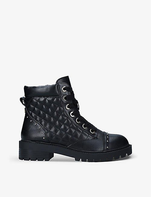 KG KURT GEIGER: Jilly quilted faux-leather ankle boots