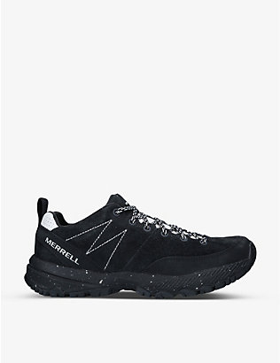 MERRELL: MQM Ace mesh and suede trainers