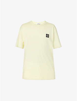 STONE ISLAND: Compass logo-embroidered cotton-jersey T-shirt