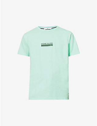 STONE ISLAND: Logo-patch cotton-jersey T-shirt