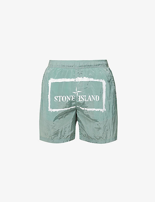 STONE ISLAND: Branded relaxed-fit shell shorts