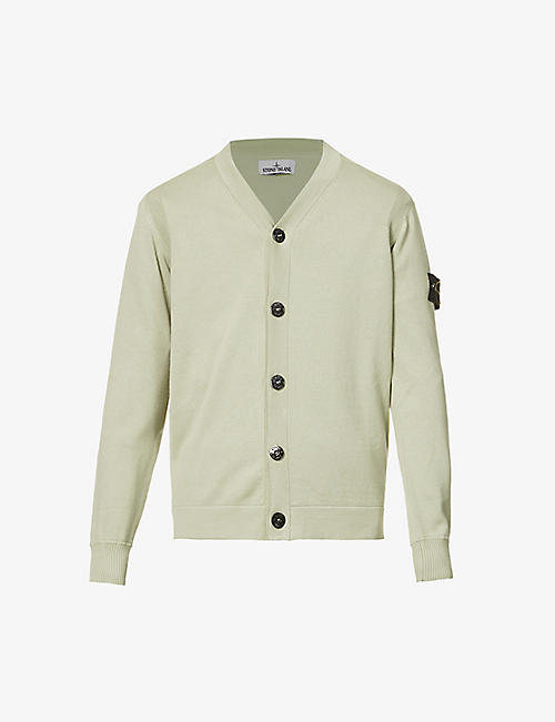 STONE ISLAND: Cotton-knit cardigan