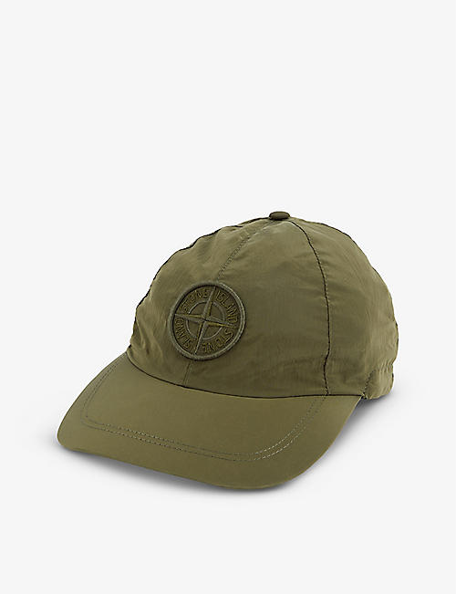 STONE ISLAND: Logo-embroidered shell cap