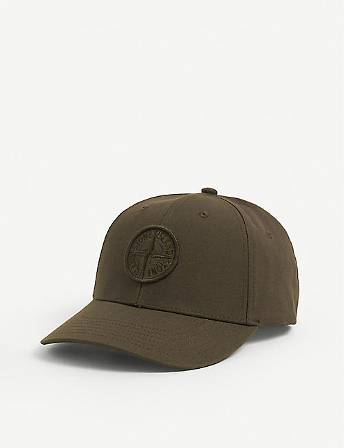 STONE ISLAND: Cotton six panel cap