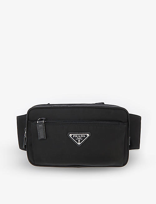 PRADA: Brand-plaque zipped nylon belt bag