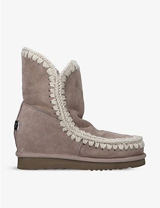 MOU: Eskimo short sheepskin wedge boots