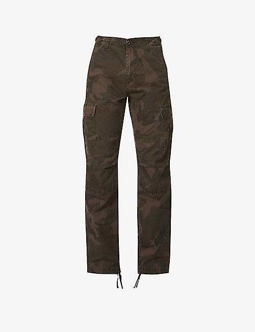CARHARTT WIP: Keyton straight relaxed-fit cotton-canvas cargo trousers