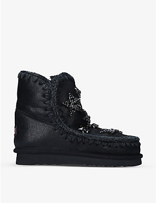MOU: Eskimo 18 crystal star-embellished sheepskin boots