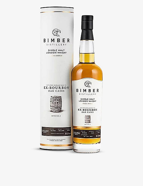 WHISKY AND BOURBON: Bimber Ex-Bourbon Batch N2 single-malt London whisky 700ml