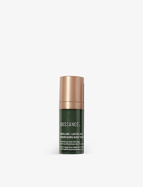 BIOSSANCE: Squalane + Lactic Acid Resurfacing Night serum 10ml