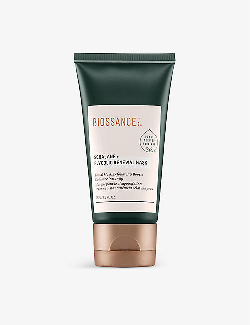 BIOSSANCE: Squalane + Glycolic Renewal mask 75ml