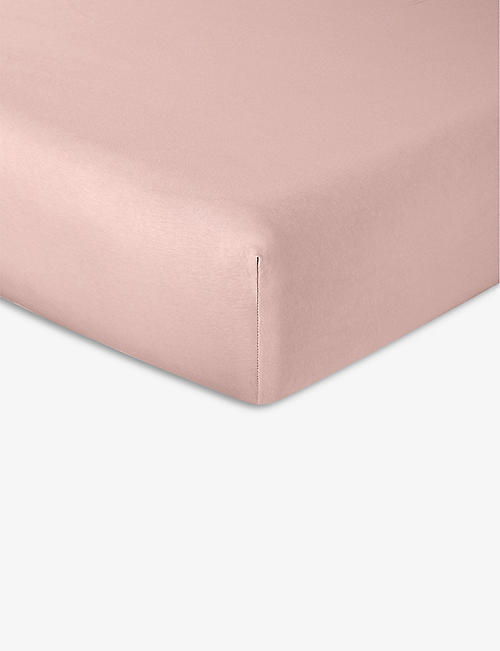 LACOSTE: Soft cotton-jersey fitted single sheet 140cm x 200cm